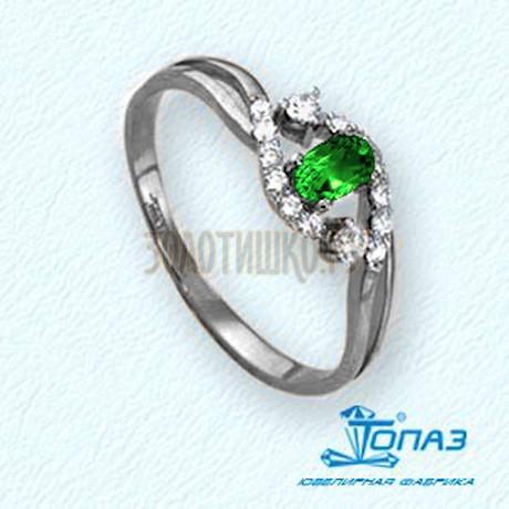 Кольцо с изумрудом и бриллиантами Т301011352_3