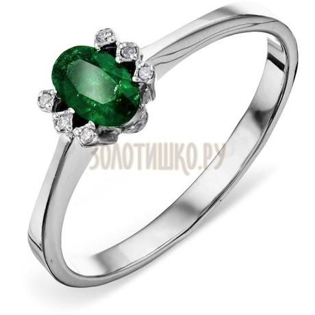 Кольцо с изумрудом и бриллиантами Т301011365_2