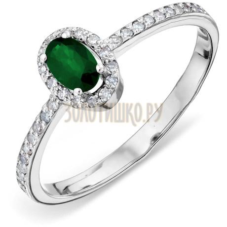 Кольцо с изумрудом и бриллиантами Т301011370_2