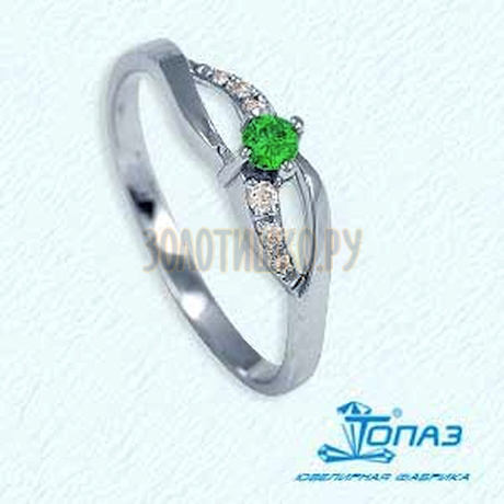 Кольцо с изумрудом и бриллиантами Т301011371_3