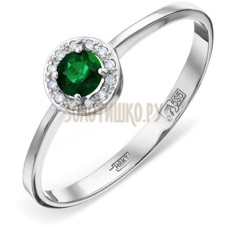 Кольцо с изумрудом и бриллиантами Т301011381_3