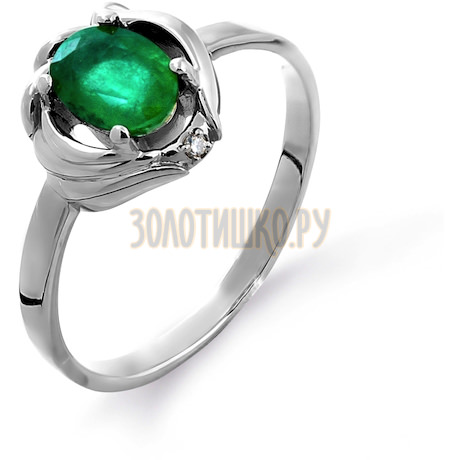 Кольцо с изумрудом и бриллиантом Т301011532_2