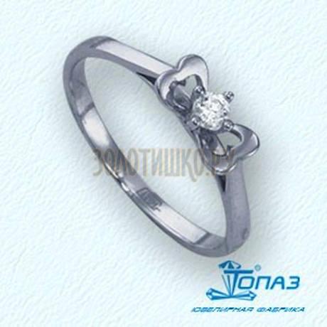Кольцо с бриллиантом Т301011645