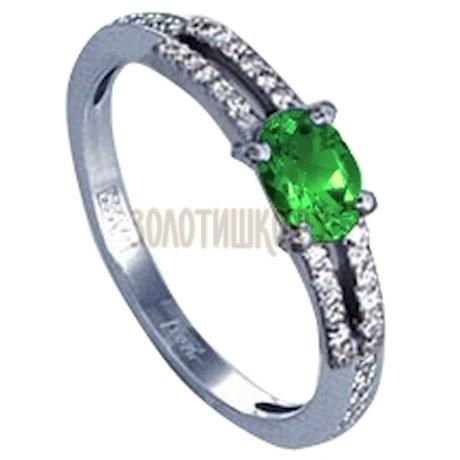 Кольцо с изумрудом и бриллиантами Т301011752_3
