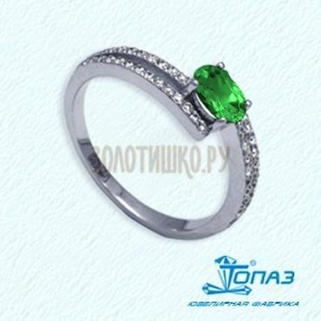Кольцо с изумрудом и бриллиантами Т301011761