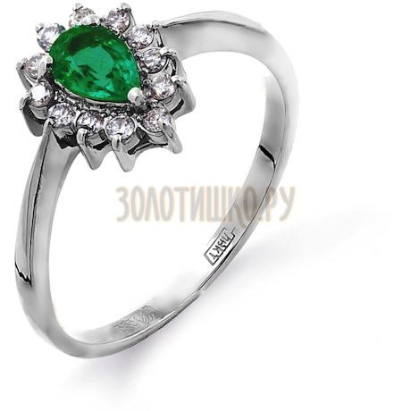 Кольцо с изумрудом и бриллиантами Т301011762_2