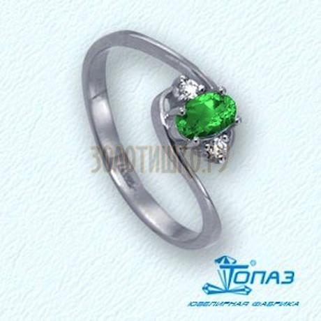 Кольцо с изумрудом и бриллиантами Т301011772