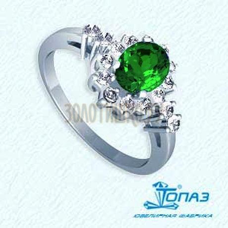 Кольцо с изумрудом и бриллиантами Т301011773_3
