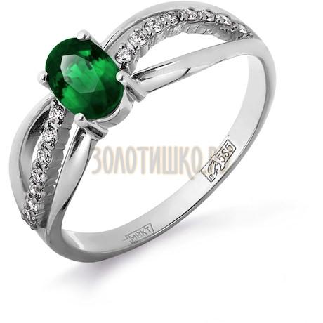Кольцо с изумрудом и бриллиантами Т301011810_3