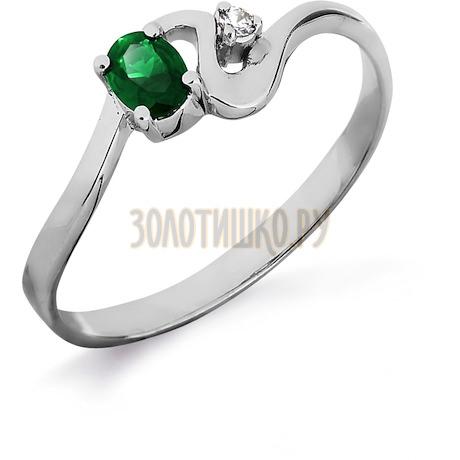 Кольцо с изумрудом и бриллиантом Т301011839