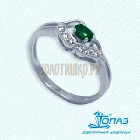 Кольцо с изумрудом и бриллиантами Т301011905