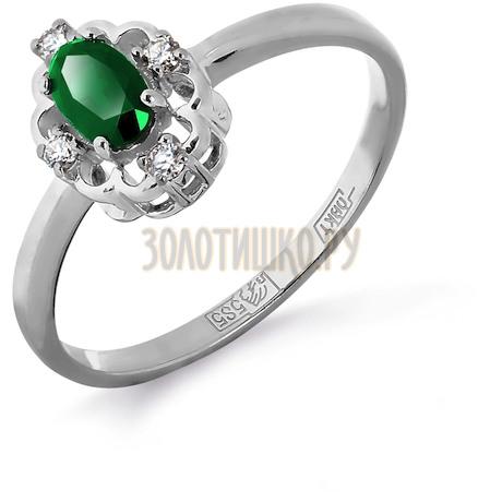Кольцо с изумрудом и бриллиантами Т301011909