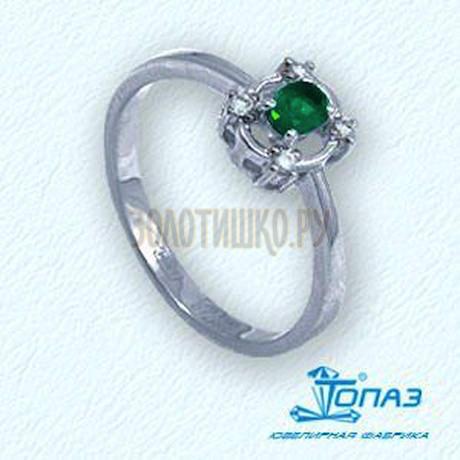Кольцо с изумрудом и бриллиантами Т301011911