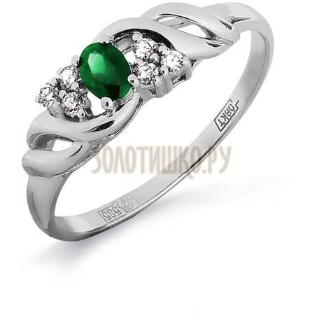 Кольцо с изумрудом и бриллиантами Т301011915_2