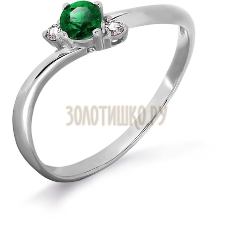Кольцо с изумрудом и бриллиантами Т301011919
