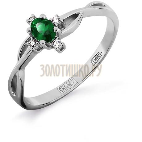 Кольцо с изумрудом и бриллиантами Т301011923_3