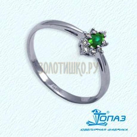 Кольцо с изумрудом и бриллиантами Т301011965_2