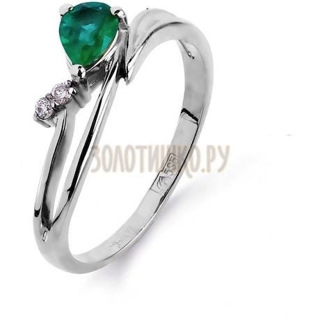 Кольцо с изумрудом и бриллиантами Т301011966_2