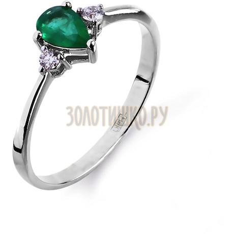 Кольцо с изумрудом и бриллиантами Т301011967_2