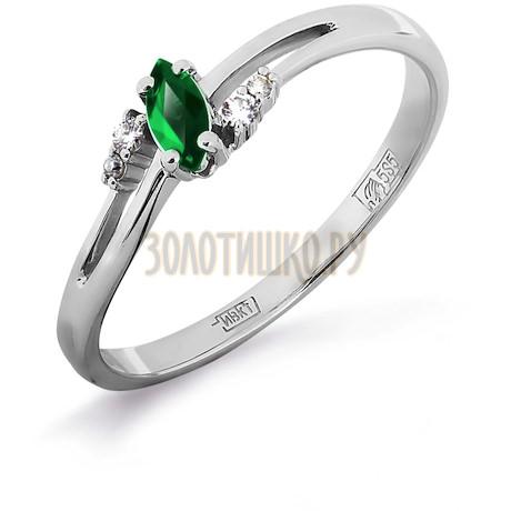 Кольцо с изумрудом и бриллиантами Т301011969_3