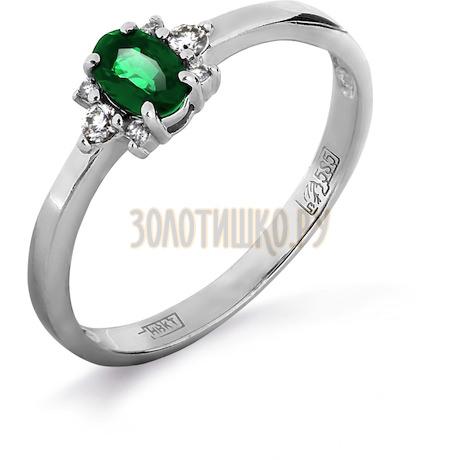 Кольцо с изумрудом и бриллиантами Т301011972_3