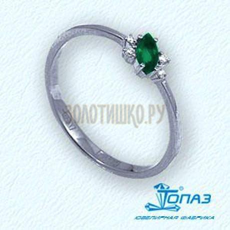 Кольцо с изумрудом и бриллиантами Т301011973_2