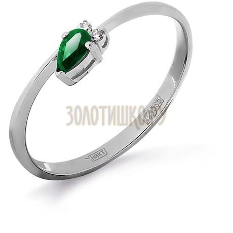 Кольцо с изумрудом и бриллиантами Т301011974_2