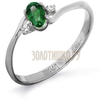 Кольцо с изумрудом и бриллиантами Т301011975_3