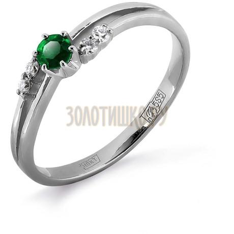 Кольцо с изумрудом и бриллиантами Т301011976_2