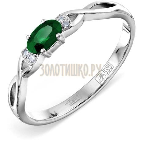 Кольцо с изумрудом и бриллиантами Т301011978_2