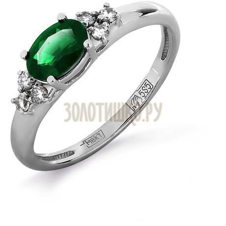 Кольцо с изумрудом и бриллиантами Т301011979_2