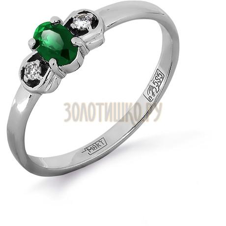 Кольцо с изумрудом и бриллиантами Т301011980_3