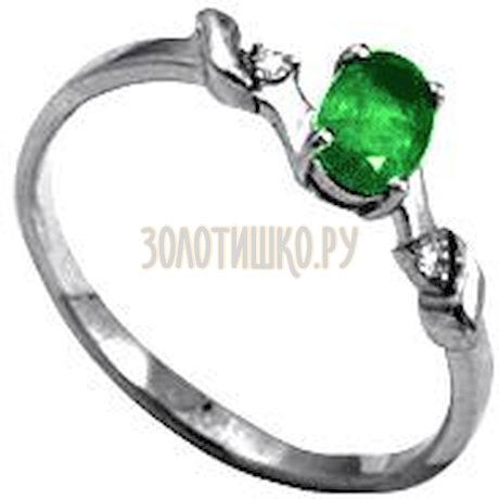 Кольцо с изумрудом и бриллиантами Т301012043_3
