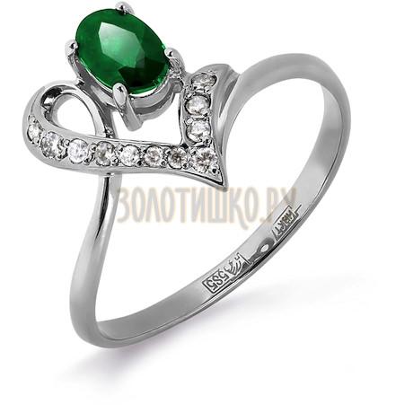Кольцо с изумрудом и бриллиантами Т301012051