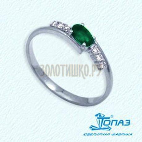 Кольцо с изумрудом и бриллиантами Т301012052