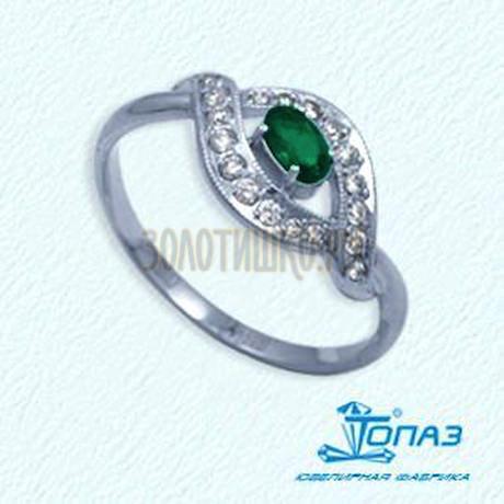 Кольцо с изумрудом и бриллиантами Т301012053