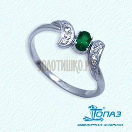 Кольцо с изумрудом и бриллиантами Т301012054_3