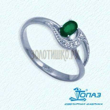 Кольцо с изумрудом и бриллиантами Т301012056_3