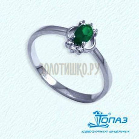 Кольцо с изумрудом и бриллиантами Т301012058_2