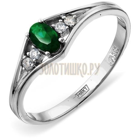 Кольцо с изумрудом и бриллиантами Т301012063_2
