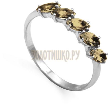 Кольцо с раухтопазами Т301012082_2