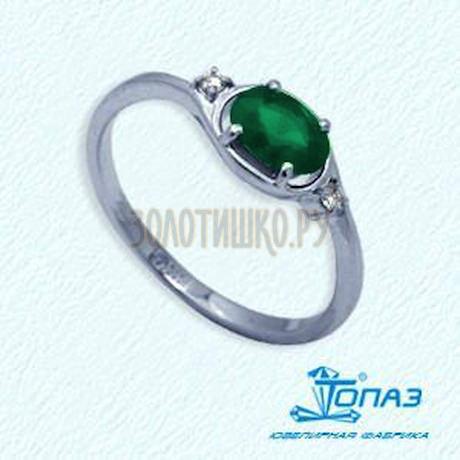 Кольцо с изумрудом и бриллиантами Т301012098