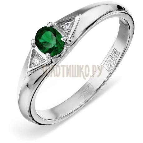Кольцо с изумрудом и бриллиантами Т301012266_3