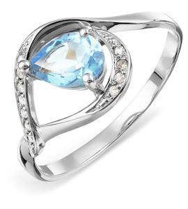 Кольцо с топазом и бриллиантами Т301014122_5