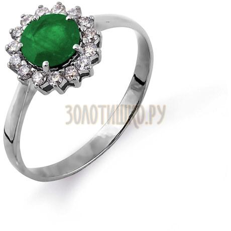 Кольцо с изумрудом и бриллиантами Т301014605_2
