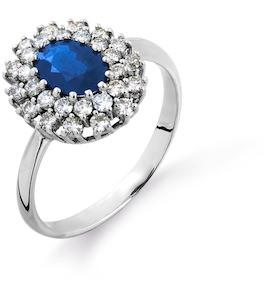 Кольцо с сапфиром и бриллиантами Т301014606
