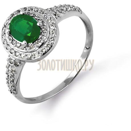 Кольцо с изумрудом и бриллиантами Т301014607_2