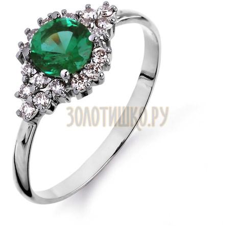 Кольцо с изумрудом и бриллиантами Т301014609_3