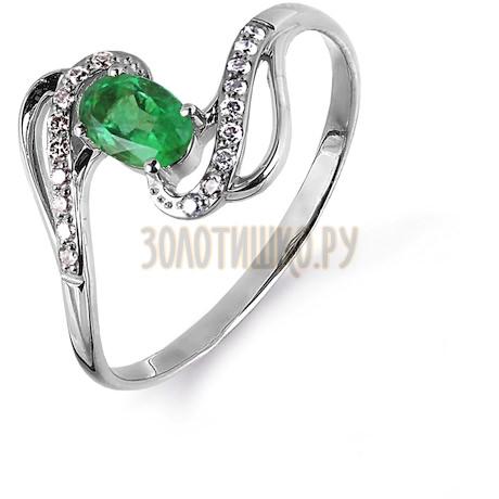 Кольцо с изумрудом и бриллиантами Т301014985_2
