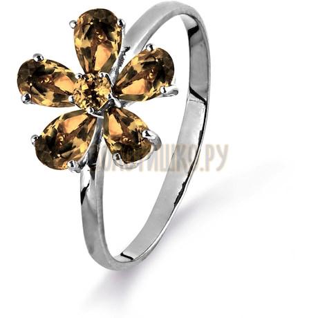 Кольцо с раухтопазами Т301015173_3